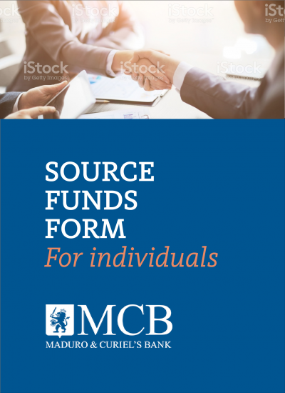 SOURCE OF FUNDS FORM <br>Applicable to: Individuals