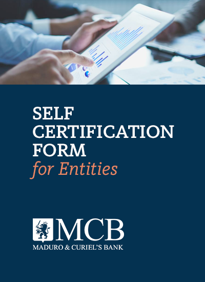 SELF CERTIFICATION FORM <br>Applicable to: Entities