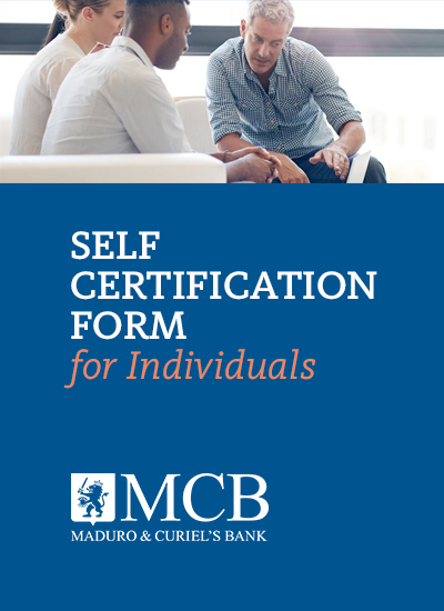 SELF CERTIFICATION FORM <br>Applicable to: Individuals