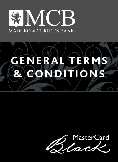 MasterCard Black Card Terms & Conditions Consumer